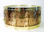 "WORLDMAX BRONZE HAMMERED SNARE 14"" x 6.5"""
